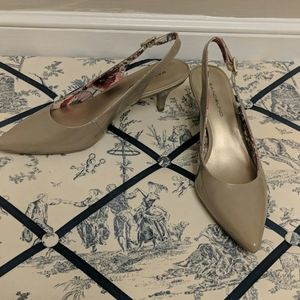 Bandolino Nude kitten heel sling backs -sz  7.5